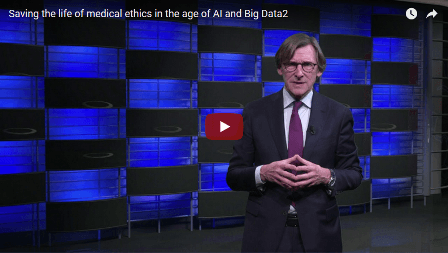 video screenshot from the talk on medical ethics and big data